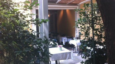 Be Bop Milano il giardino interno