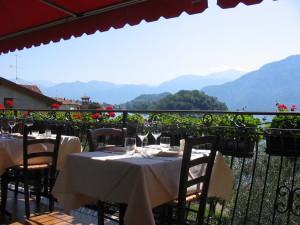 La terrazza del ristorante La Comacina
