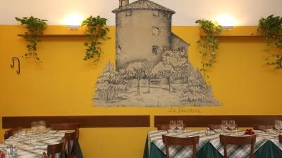 interno del ristorante con la Bicocca