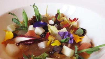 minestra di frutta e verdura
