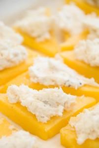 Baccalà mantecato on polenta